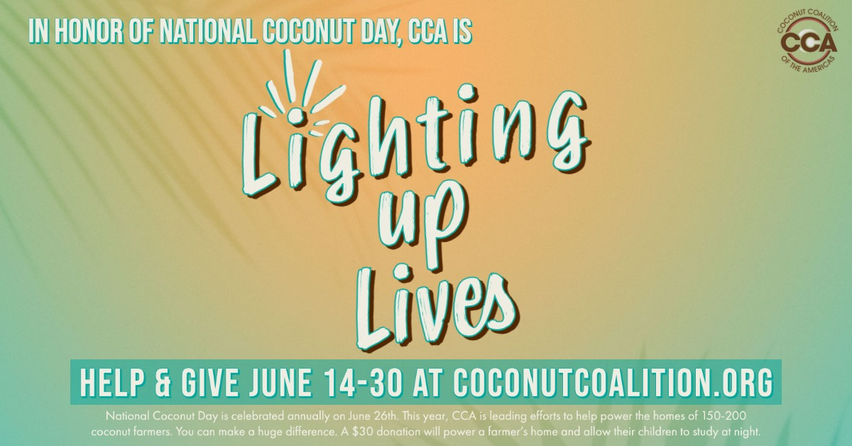 Lighting Up Lives for National Coconut Day